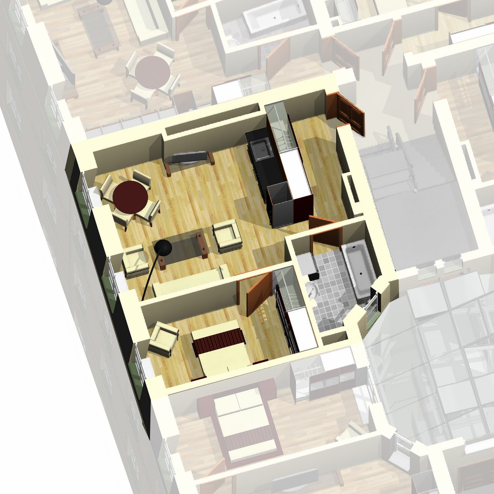 Apartment 49 for 12th floor apartments odessa
